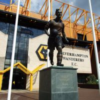 Statue commemorating Billy Wright, Molineux Stadium, Wolverhampton, Вулвергемптон