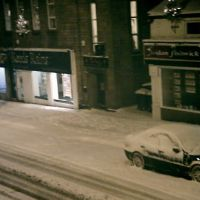 Glossop high street last night of November, Глоссоп
