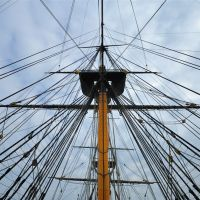 Rigging detail of HMS Victory, Госпорт