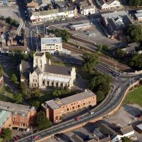 Aerial Grimsby St. James Church, Гримсби