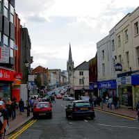 Dudley High Street - Towards Top Church, Дадли