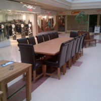 Large 12 - 14 seater oak dining table and leather chairs, Top Furniture, Dartford, Дартфорд