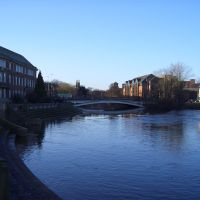 """Exeter Bridge over the River """"Derwent"""" - Derby, to N-W (i), Дерби"""