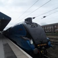 4464 Bittern arrives at Doncaster with the cathedrals express to scotland, Донкастер