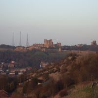 Dover Castle from the Western Heights Trail, Kent, England, United Kingdom, Дувр