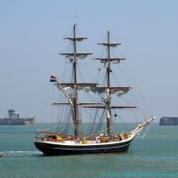 Morgenster Two-Masted Brig, Class A Tall Sailing Ship, Dover Harbour, Kent, UK, Дувр