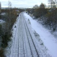 November Snow On Thornhill Train Line., Дьюсбури