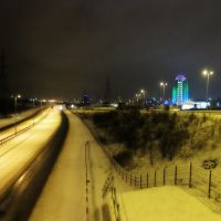 Snow fall on a Saturday evening, Каннок