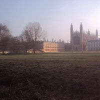 Kings College very early on a winters morning, Кембридж
