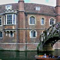 Cambridge: Queens College and Mathematical Bridge, Кембридж