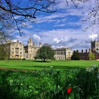 St. Johns College, Cambridge. Spring view., Кембридж