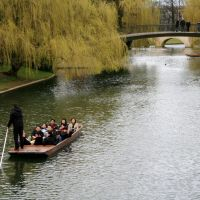 Punting in Cambridge, Кембридж