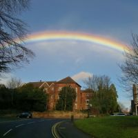 Abbey End, Kenilworth, with rainbow, Кенилворт