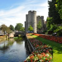 River Stour into Canterbury.[westgate towers], Кентербери