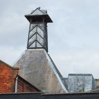 Kettering, Lead covered 19th Century factory tower vent.Lower Street., Кеттеринг