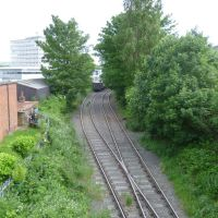 disused branch line from kings lynn station to kings lynn docks. kings lynn, norfolk. june 2012., Кингс-Линн