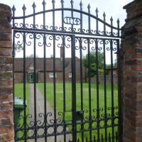 the oldest wrought iron gates I have seen all day. kings lynn, norfolk. 2012., Кингс-Линн