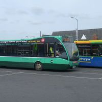 norfolk green, optare versa and two optare solo`s, kings lynn bus station, kings lynn, norfolk. june 2012., Кингс-Линн