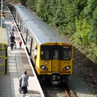 Merseyrail Train At Kirkby Station, Bound For Liverpool., Киркби