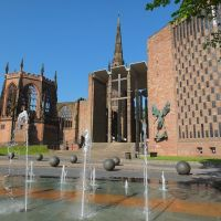 Hope springs eternal, a view of the old and the new Coventry Cathedrals., Ковентри