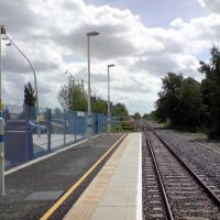 Corby Station approach from Kettering, Корби
