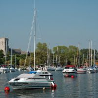 Moorings on the Stour at Christchurch, Кристчерч