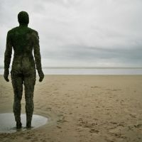 gormley art on crosby beach, january 2007, Кросби