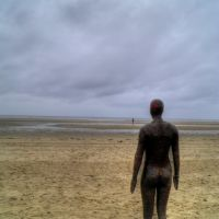Antony Gormleys Another Place - Crosby Beach, Кросби