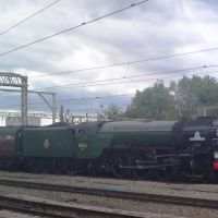 60163 Tornado arrives at Crewe, Крю