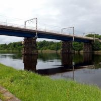 Railway bridge over River Lune, Ланкастер