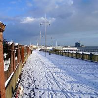 Lowestoft, Upper prom in the snow., Лаустофт
