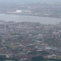 Aerial View of Liverpool City Centre, Ливерпуль