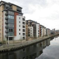 Leeds Clarence Dock Panorama Looking West, Лидс