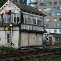 East Holmes signal box, built in 1873, Lincoln city centre, 2008., Линкольн