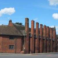 Lichfield, St Johns Street,18th Century Almshouses., Личфилд