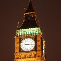 Big Ben at 9:16PM (London, UK) [High Resolution], Лондон