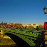 ENG (GBR) London Houses of Parliament - Big Ben - Westminster Bridge - London Eye [Thames] Panorama by KWOT, Лондон