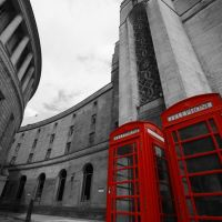 Manchester Central Library phoneboxes, Манчестер