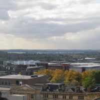 Panorama of the south west Northampton from Northampton Town Centre, Нортгемптон