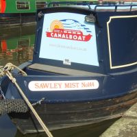 Sawley Mist (or sorely missed?) narrowboat, Nottingham Canal. 2009, Ноттингем