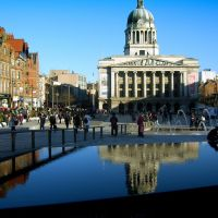 The Old Market Square and Council House, Nottingham, UK., Ноттингем