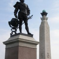 Sir Francis Drakes statue, Plymouth Hoe, Плимут