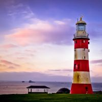 Sunrise at Plymouth Lighthouse, Плимут