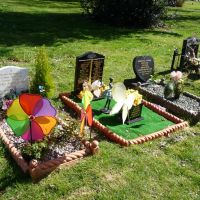 Wielka Brytania, Potrsmouth, kolorowe groby, Портсмут