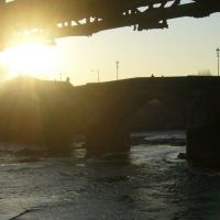 Sunrise over the bridge, February 2008, Престон