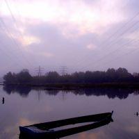 foggy dawn over Holes Bay, Пул