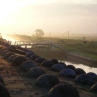 Bardney Lock from Old Rail Bridge, Рагби