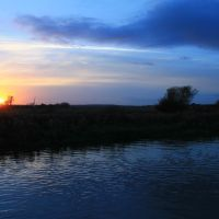 Sunset on the River Witham 2., Рагби