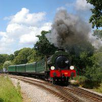 Royal Engineer leaving Smallbrook, IW Steam Railway, Райд