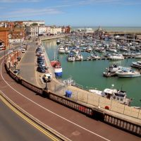 Ramsgate Inner Harbour and Harbour Parade, from Sion Hill, Рамсгейт